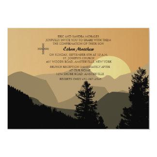 Invitación de la salida del sol de la confirmación invitación 12,7 x 17,8 cm