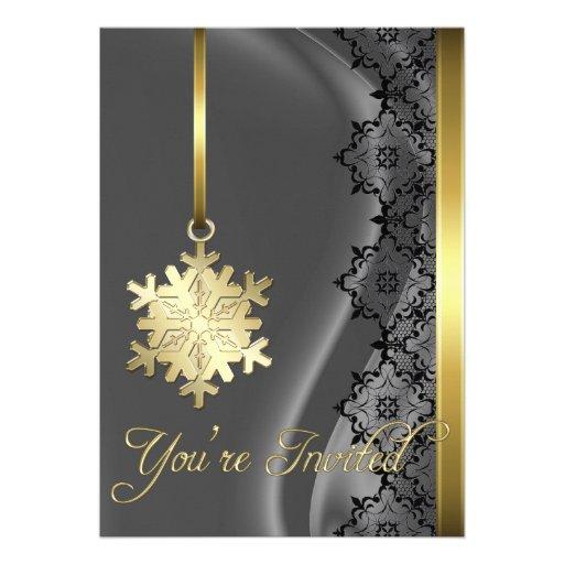 Invitación de la seda de la plata de la decoración