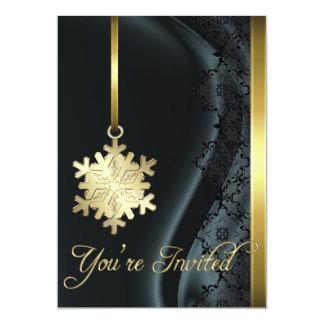 Invitación de la seda del negro de la decoración