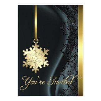 Invitación de la seda del negro de la decoración d