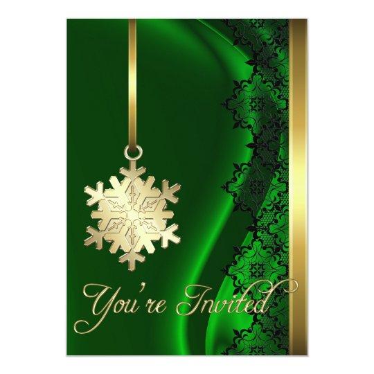 Invitación de la seda del verde de la decoración