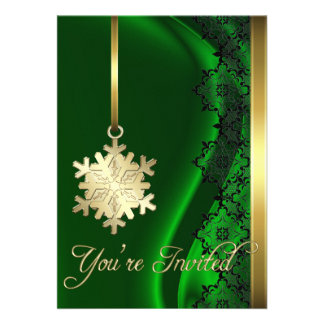 Invitación de la seda del verde de la decoración d