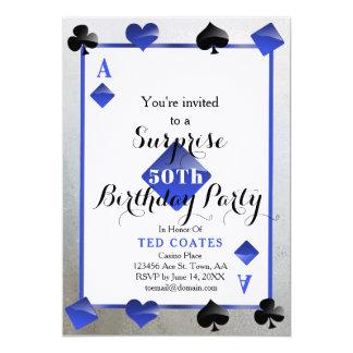 invitación de la sorpresa del cumpleaños del