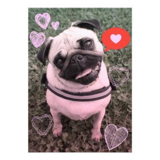 Invitación de la tarjeta del día de San Valentín
