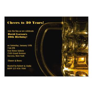 Invitación de la taza de cerveza invitación 12,7 x 17,8 cm