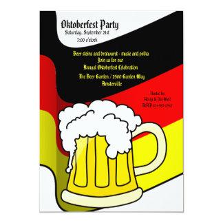 Invitación de la taza de cerveza de Oktoberfest Invitación 12,7 X 17,8 Cm