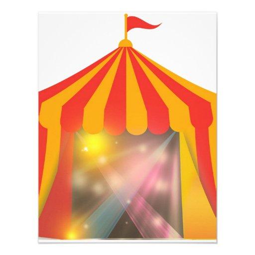 Invitación de la tienda de circo