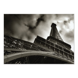 Invitación de la torre Eiffel Invitación 12,7 X 17,8 Cm
