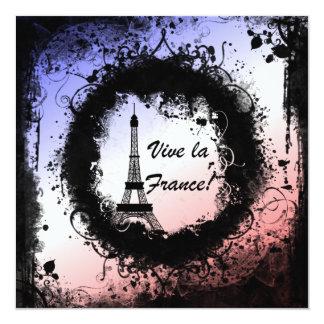 Invitación de la torre Eiffel del Grunge
