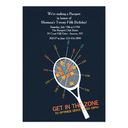 Invitación de la zona del servicio del tenis