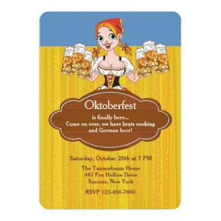 Invitación de las cervezas de Oktoberfest
