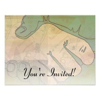 Invitación de las ilustraciones del apretón de man