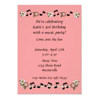 Invitación de las notas musicales