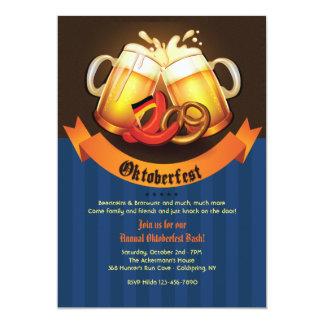 Invitación de las tazas de cerveza de Oktoberfest