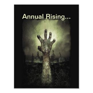 Invitación de levantamiento anual del fiesta de