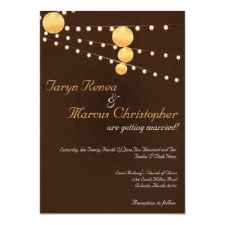 invitación de lino del boda de Brown de las