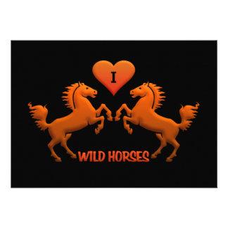 ¡Invitación de los caballos salvajes - personaliza