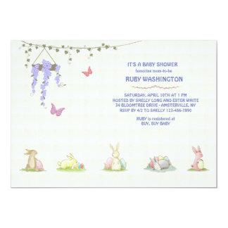 Invitación de los conejitos del bebé