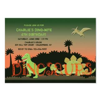 Invitación de los dinosaurios