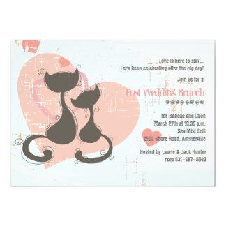 Invitación de los gatos del amor