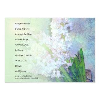 Invitación de los jacintos del rezo de la invitación 12,7 x 17,8 cm
