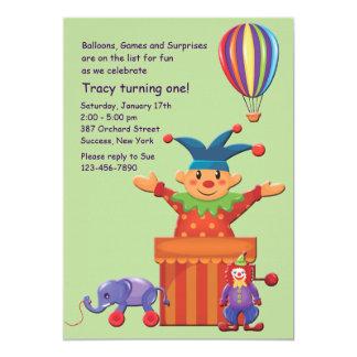 Invitación de los juguetes de los niños invitación 12,7 x 17,8 cm