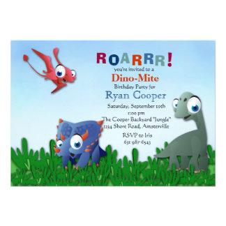 Invitación de los Pals del dinosaurio
