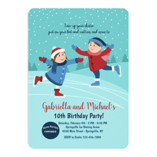 Invitación de los patinadores de hielo del