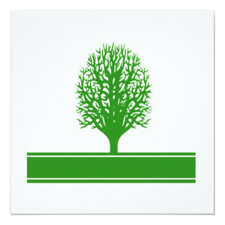 Invitación de los problemas ambientales invitación 13,3 cm x 13,3cm