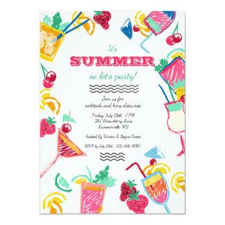 Invitación de los refrigeradores del verano