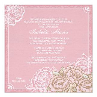 Invitación de los rosas de la col del vintage