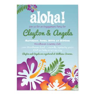 Invitación de Luau del verano de la hawaiana