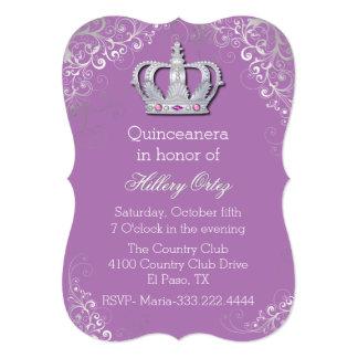 Invitación de lujo atractiva de Quinceanera de la Invitación 12,7 X 17,8 Cm