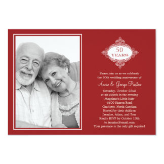 Invitación de lujo de la foto del aniversario del
