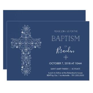 Invitación de lujo del bautismo de los muchachos