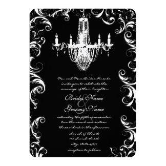 Invitación de lujo del boda de la lámpara del