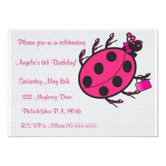Invitación de lujo del cumpleaños de la mariquita