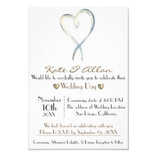 Invitación de lujo delicada RSVP del boda del