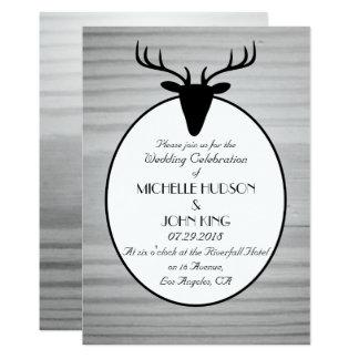 Invitación de madera del boda del invierno de los