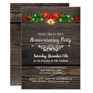 Invitación de madera rústica del fiesta del