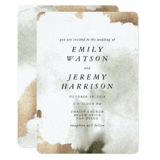 Invitación de mármol gris del boda de la textura