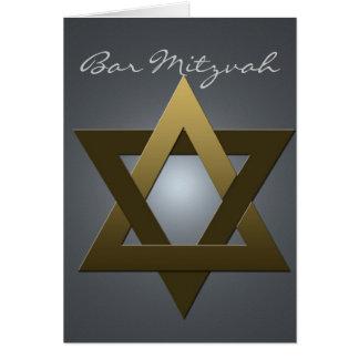 Invitación de Mitzvah de la barra de la plata y de Tarjetón
