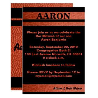 Invitación de Mitzvah de la barra de los aros