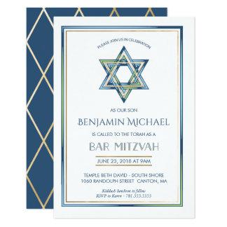 Invitación de Mitzvah de la barra - estrella de