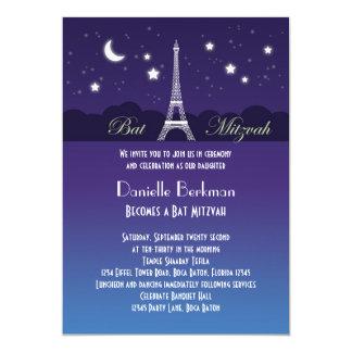 Invitación de Mitzvah del palo de la torre Eiffel