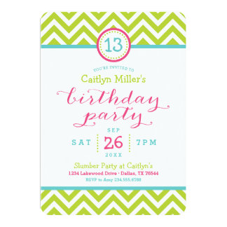 Invitación de moda de la fiesta de cumpleaños de invitación 12,7 x 17,8 cm