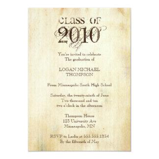 Invitación de moda de la fiesta de graduación del