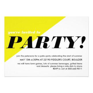 Invitación de neón moderna de la fiesta de barrio