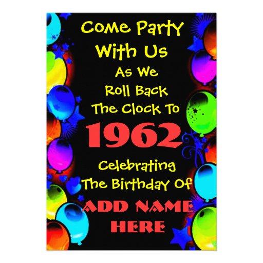 Invitación de neón retra de la fiesta de cumpleaño