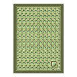 Invitación de Nouveau del pavo real (verde verde o